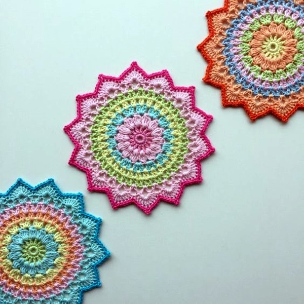 40 Pretty and Easy Crochet Doily for Beginners photofun4u