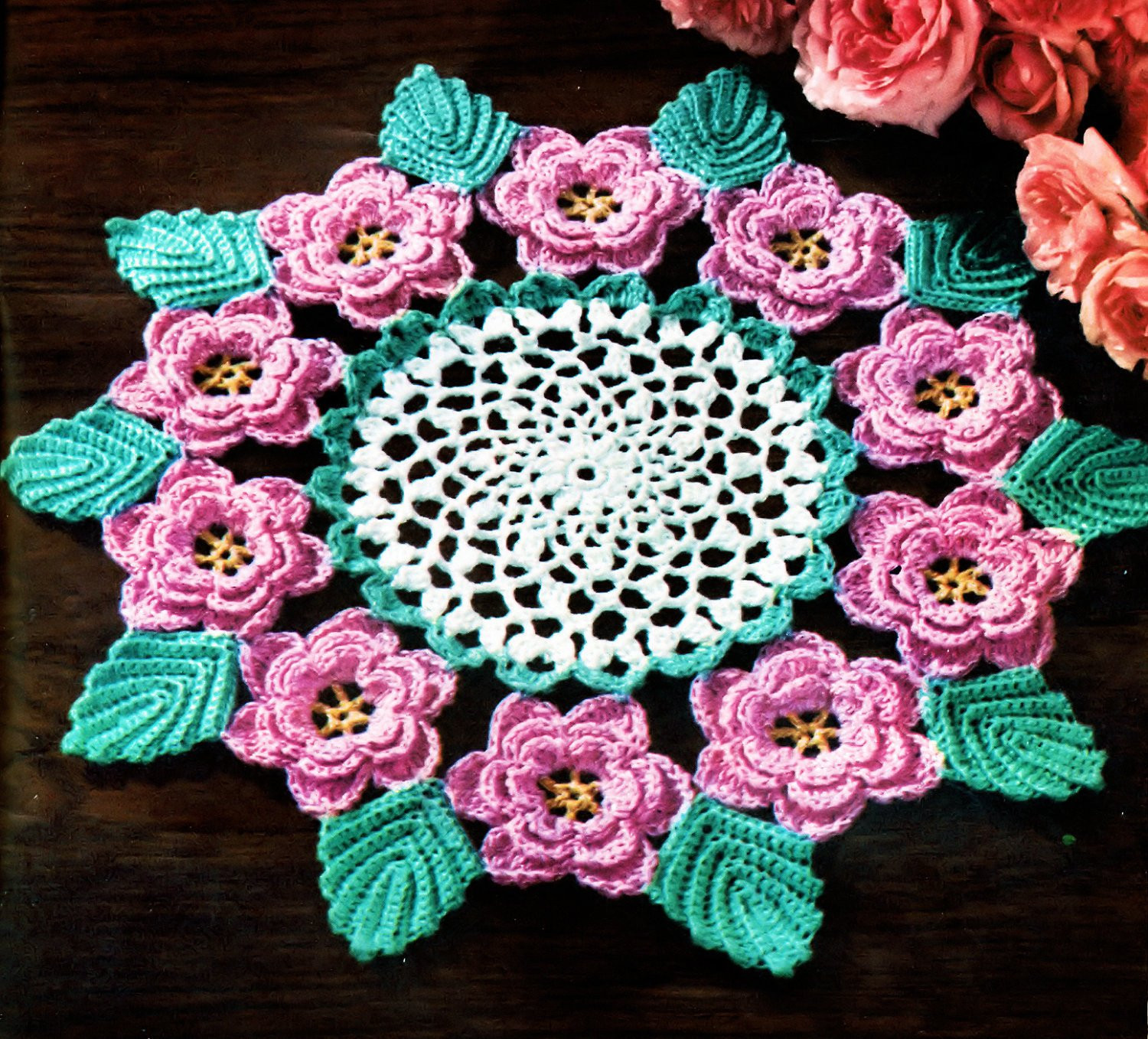 Free Crochet Doily Patterns Lovely Rose Doily Irish Crochet Pdf Pattern 1957 Of Charming 46 Pics Free Crochet Doily Patterns