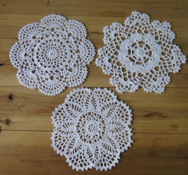 Free Crochet Doily Patterns Luxury Free Shipping 24piece Handmade Crochet Doilies 3 Designs Of Charming 46 Pics Free Crochet Doily Patterns