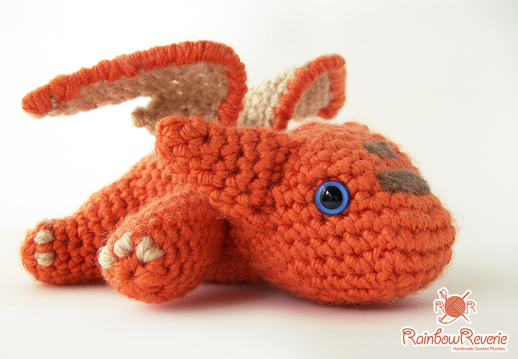 Free Crochet Dragon Pattern Awesome orange Baby Dragon Amigurumi by Rainbowreverie On Deviantart Of Amazing 50 Images Free Crochet Dragon Pattern