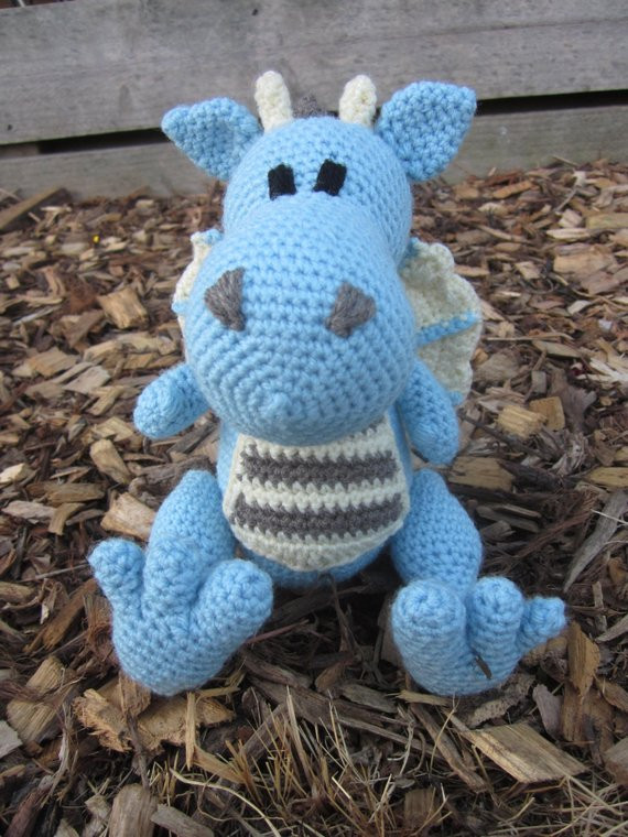 Free Crochet Dragon Pattern New Crochet Dragon Pattern Instant Download Of Amazing 50 Images Free Crochet Dragon Pattern