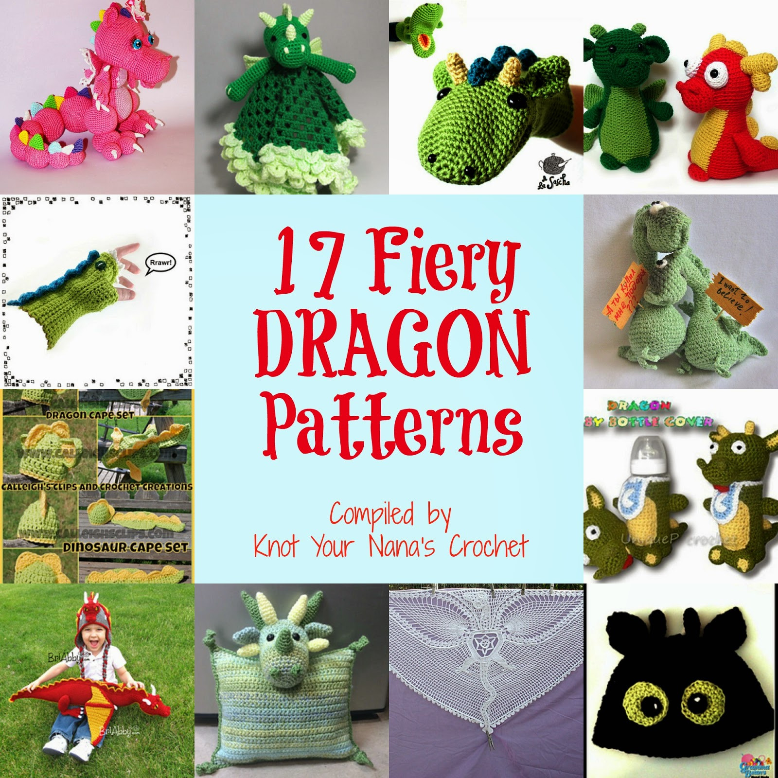 Free Crochet Dragon Pattern New Knot Your Nana S Crochet Smaug the African Flower Dragon Of Amazing 50 Images Free Crochet Dragon Pattern