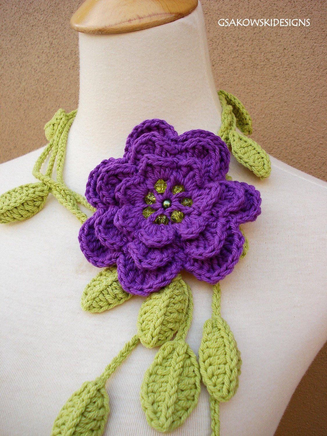 Free Crochet Flower Patterns New Crocheted Flower Scarf Pattern Crochet and Knitting Patterns Of Amazing 42 Images Free Crochet Flower Patterns