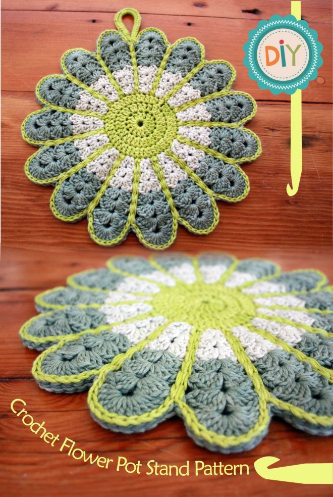 Free Crochet Hot Pad Patterns Inspirational Flower Hot Pad Pot Stand Holder Free Crochet Pattern Of Beautiful 48 Pics Free Crochet Hot Pad Patterns