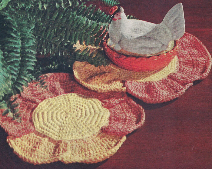 Free Crochet Hot Pad Patterns Lovely Vintage Crochet Pattern Flower Hot Pad Mat Pot Holder Of Beautiful 48 Pics Free Crochet Hot Pad Patterns