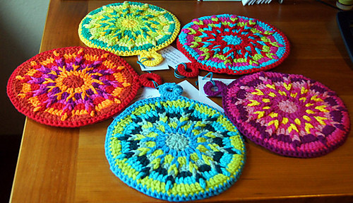 Free Crochet Hot Pad Patterns Unique Art In the Kitchen Crochet Potholders and Hot Pads Of Beautiful 48 Pics Free Crochet Hot Pad Patterns