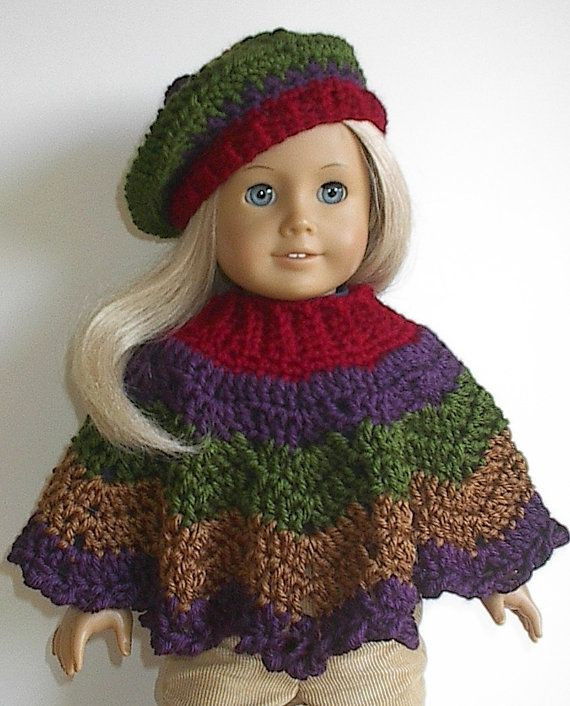 Free Crochet Patterns for American Girl Doll New American Girl Doll Crocheted Poncho Set In Autumn by Of Contemporary 40 Pictures Free Crochet Patterns for American Girl Doll