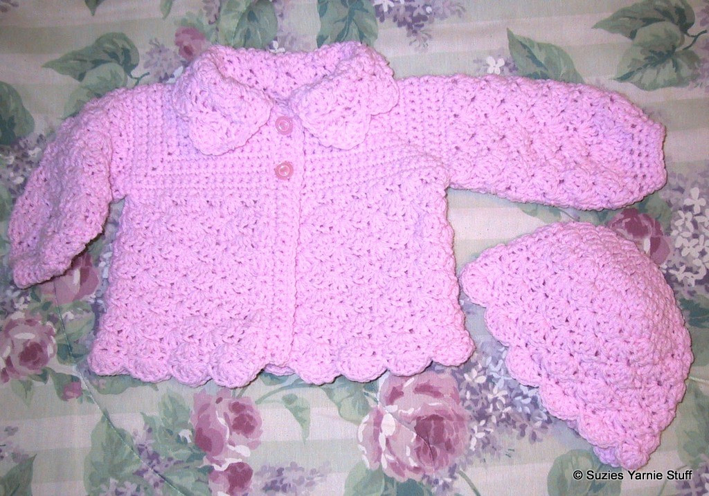 Free Crochet Patterns for Babies Cardigans Awesome Suzies Stuff Suzie's Pretty Shells Baby Sweater and Hat C Of Superb 45 Models Free Crochet Patterns for Babies Cardigans