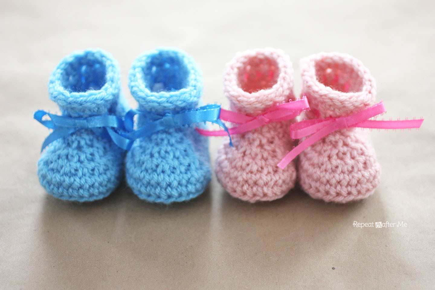 Crochet Newborn Baby Shoes Design with Chain and Free