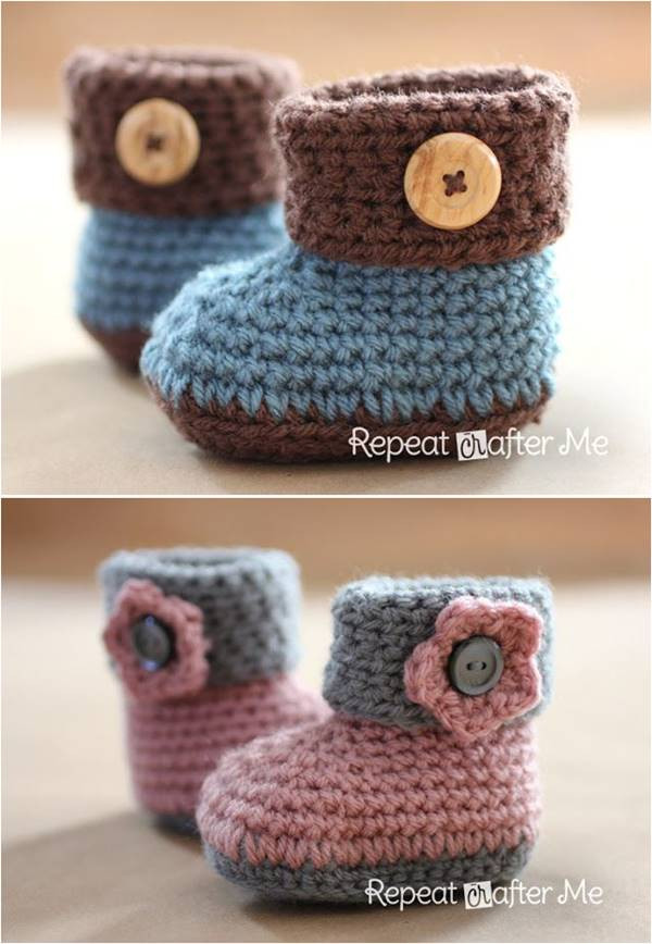 Free Crochet Patterns for Baby Booties New 40 Adorable and Free Crochet Baby Booties Patterns Of Luxury 40 Pictures Free Crochet Patterns for Baby Booties