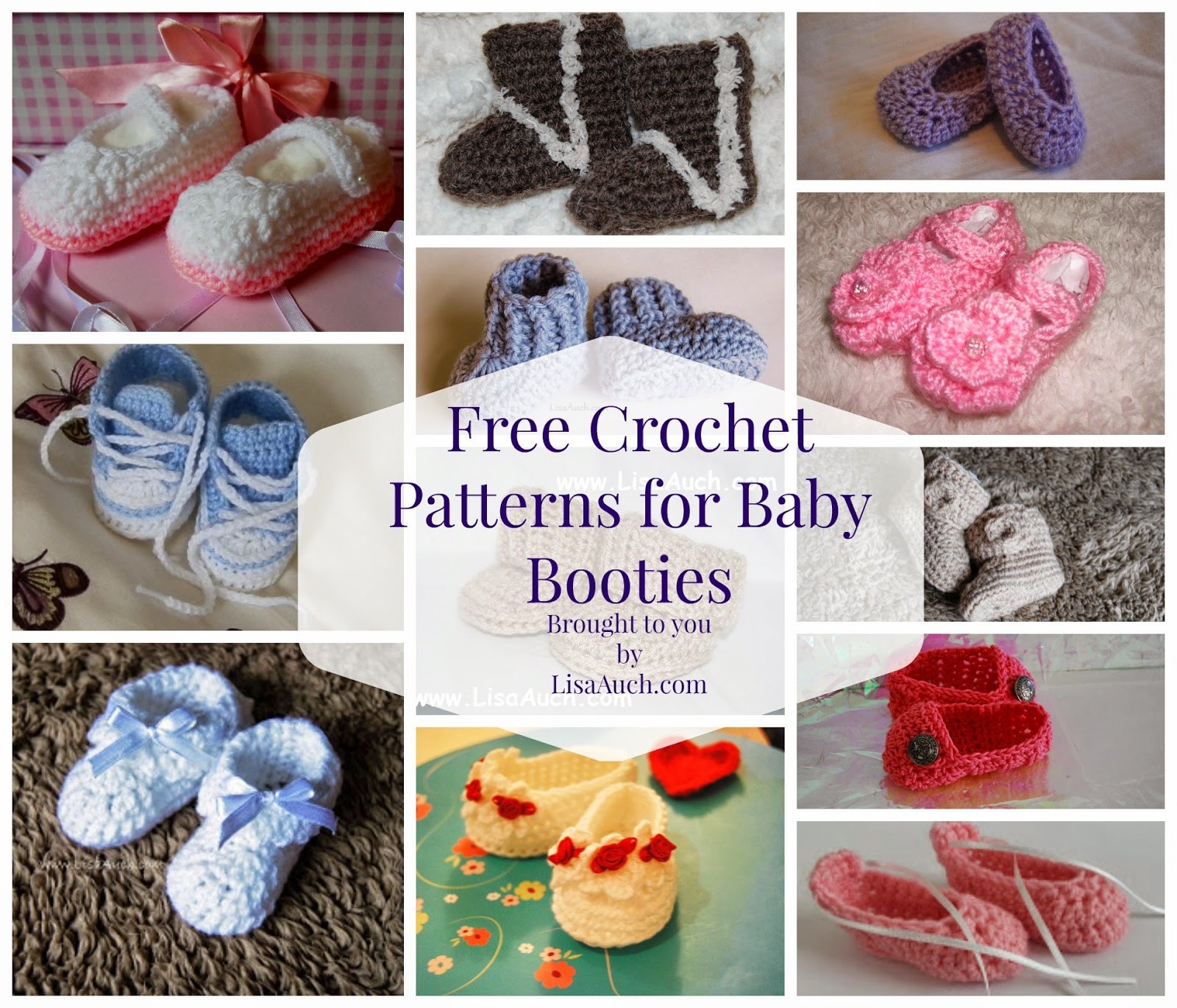 Free Crochet Patterns for Baby Booties New Free Crochet Patterns and Designs by Lisaauch Free Of Luxury 40 Pictures Free Crochet Patterns for Baby Booties