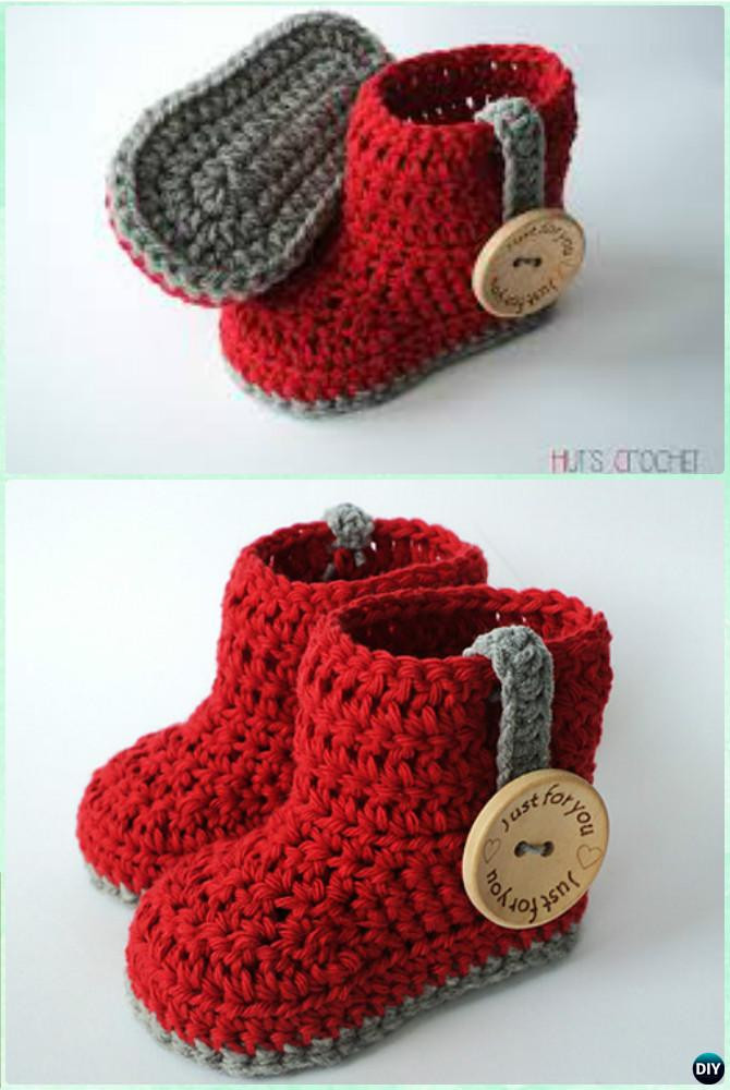 Free Crochet Patterns for Baby Shoes Inspirational Crochet Ankle High Baby Booties Free Patterns Tutorials Of Wonderful 50 Photos Free Crochet Patterns for Baby Shoes