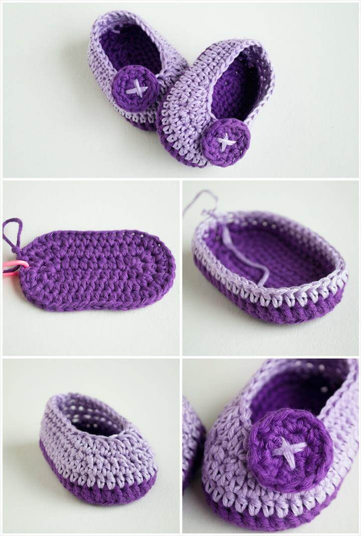 Top 40 Free Crochet Baby Booties Patterns DIY & Crafts