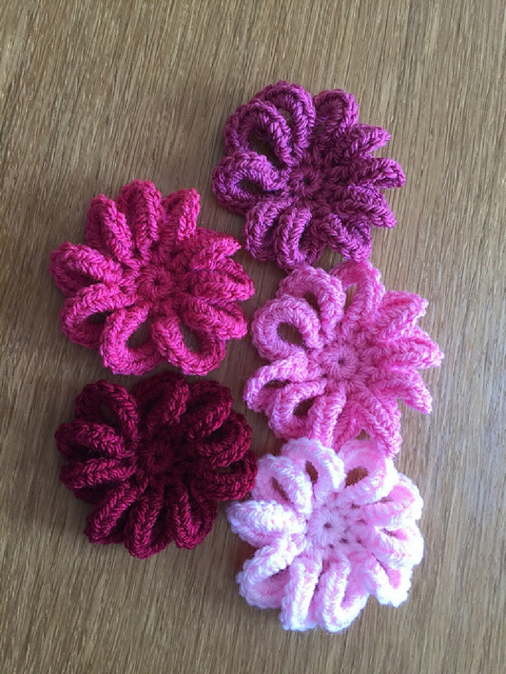 11 Easy and Simple Free Crochet Flower Patterns and Tutorials