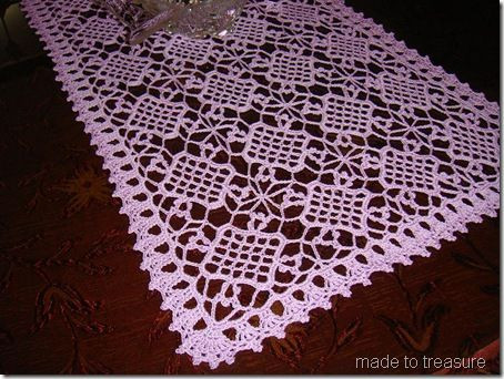 Free Easy Crochet Patterns For Table Runners Dancox for