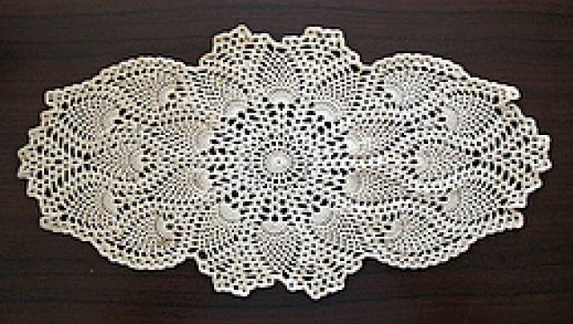 Oval Pineapple Doily