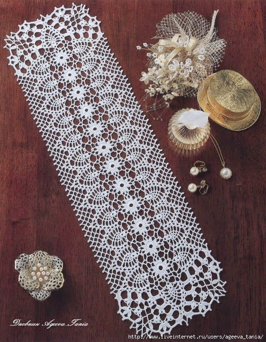 Free Crochet Pineapple Table Runner Patterns Best Of Rectangle Doily Of Amazing 49 Photos Free Crochet Pineapple Table Runner Patterns