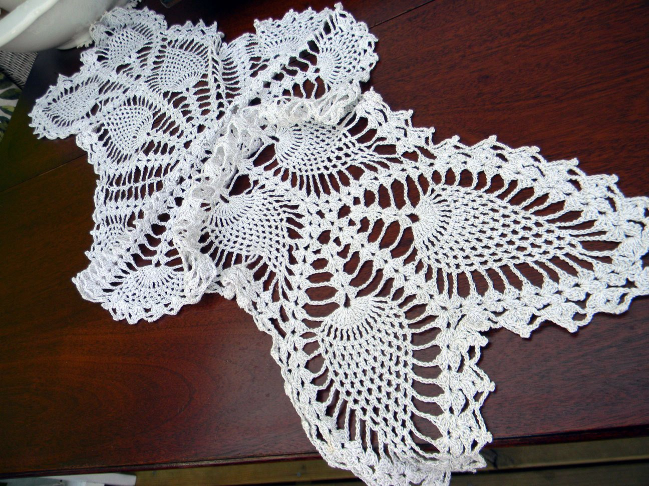 Free Crochet Pineapple Table Runner Patterns Fresh Table Runner Vintage Crocheted Centerpiece In by Of Amazing 49 Photos Free Crochet Pineapple Table Runner Patterns