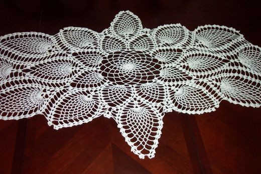 Free Crochet Pineapple Table Runner Patterns Inspirational Captivating Crocheting Make Crocheted Table Runners Wall Of Amazing 49 Photos Free Crochet Pineapple Table Runner Patterns