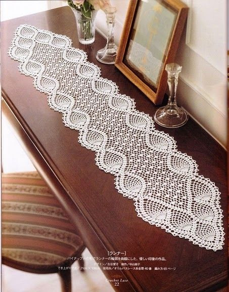 Free Crochet Pineapple Table Runner Patterns New Beautiful Tablecloths Crochet Pattern Of Amazing 49 Photos Free Crochet Pineapple Table Runner Patterns