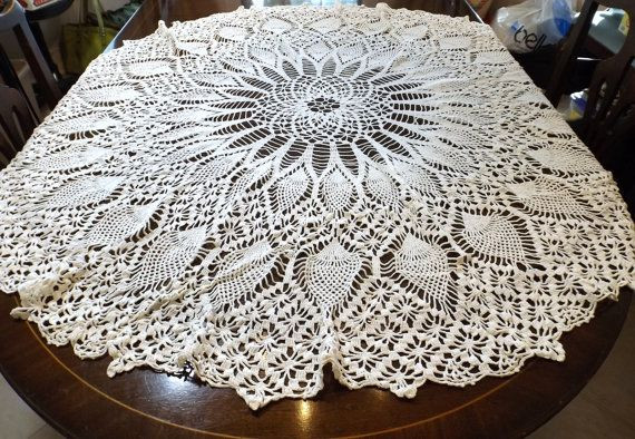 Free Crochet Pineapple Table Runner Patterns New Hand Crocheted Round Tablecloth Pineapple Pattern 52 Of Amazing 49 Photos Free Crochet Pineapple Table Runner Patterns
