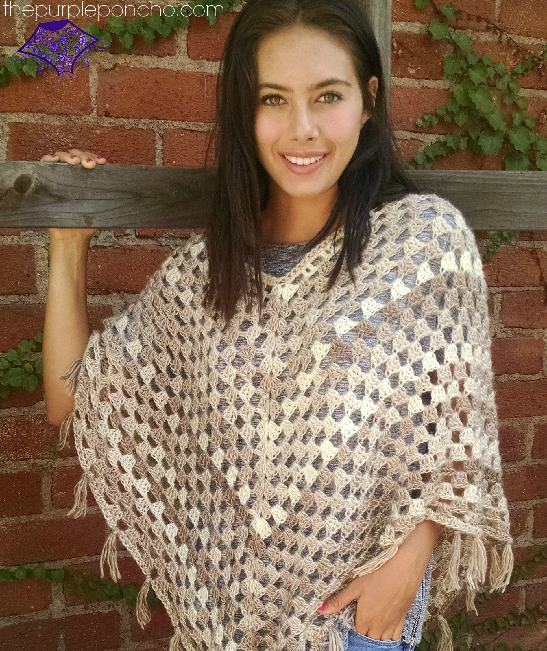 Free Crochet Poncho Patterns Beautiful Timeless Boho Poncho – Free Crochet Pattern – the Purple Of Wonderful 50 Images Free Crochet Poncho Patterns