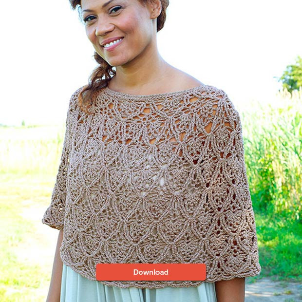FREE Berroco poncho crochet pattern • LoveKnitting Blog