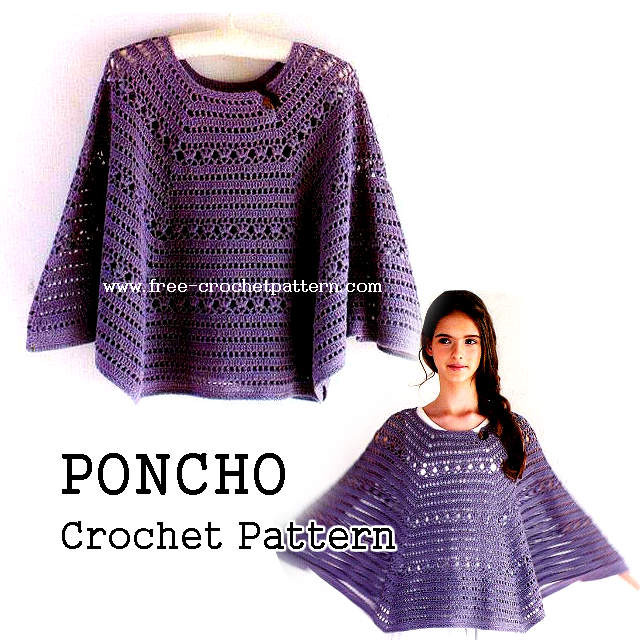 Free Crochet Poncho Patterns New Crochet Poncho Pattern Free Crochet Patterns Of Wonderful 50 Images Free Crochet Poncho Patterns