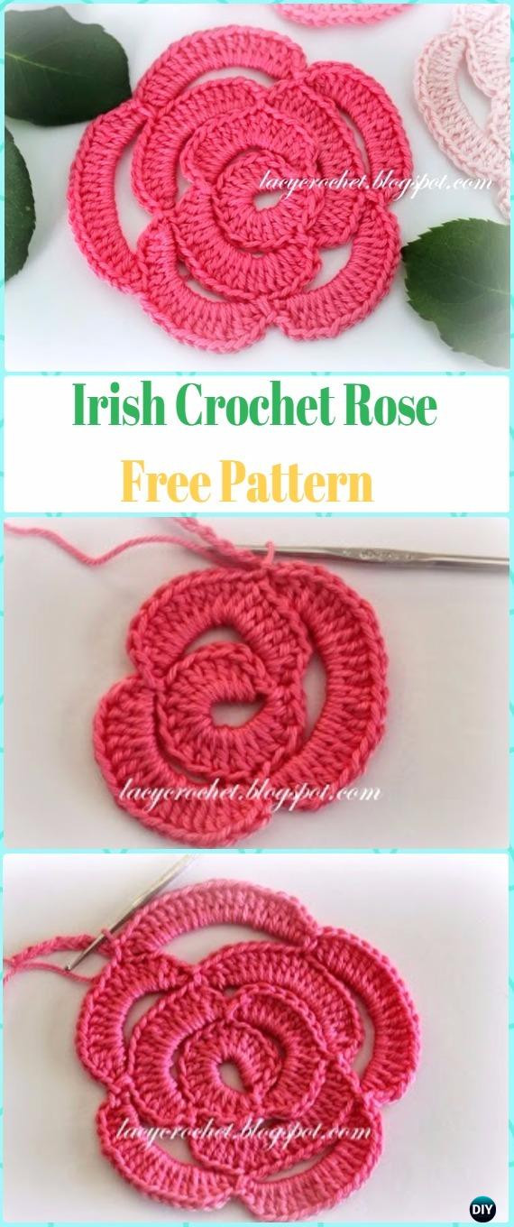 Free Crochet Rose Pattern Awesome Crochet 3d Rose Flowers Free Patterns & Tutorials Of Attractive 49 Pics Free Crochet Rose Pattern