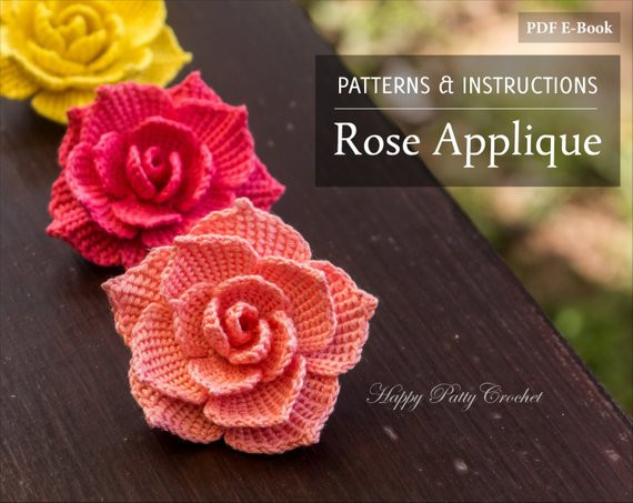 Free Crochet Rose Pattern Awesome Crochet Rose Pattern Crochet Flower Pattern for A Rose Of Attractive 49 Pics Free Crochet Rose Pattern