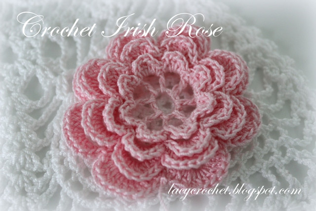 Free Crochet Rose Pattern Beautiful Lacy Crochet Crochet Irish Rose Of Attractive 49 Pics Free Crochet Rose Pattern