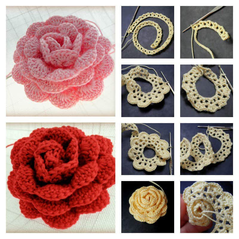 Free Crochet Rose Pattern Best Of 3d Crochet Roses Video Tutorial Of Attractive 49 Pics Free Crochet Rose Pattern
