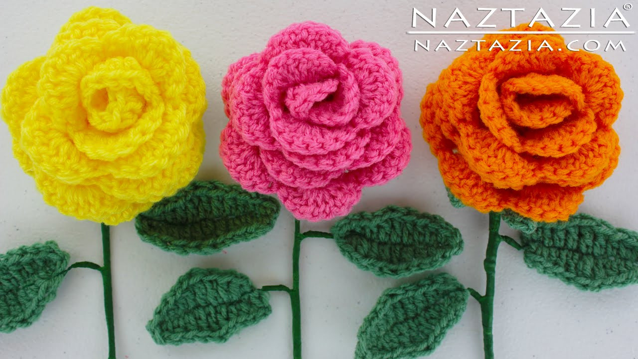 DIY Learn How to Crochet a Beginner Easy Flower Rose
