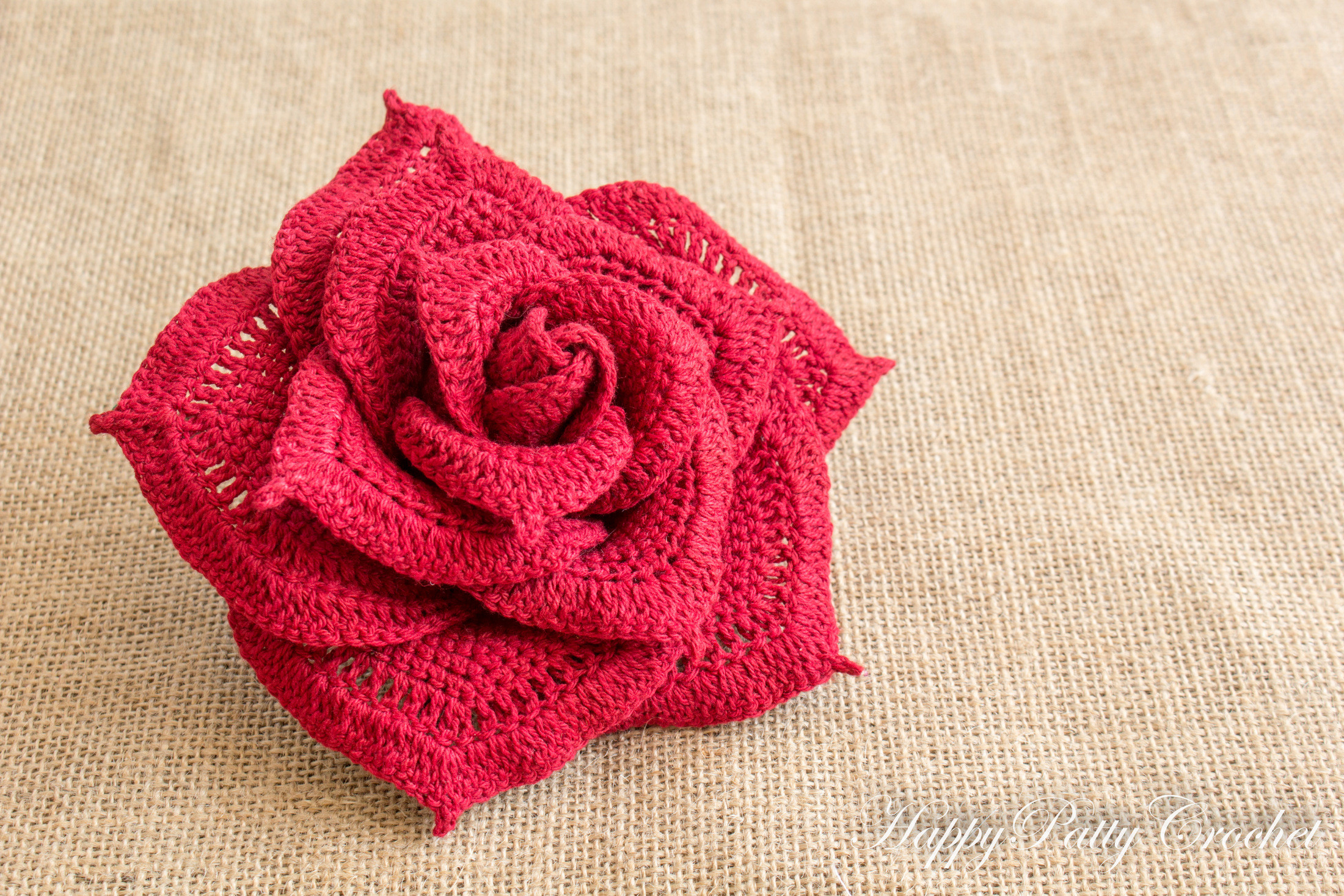 Free Crochet Rose Pattern Fresh Crochet Rose Pattern by Happy Patty Crochet Of Attractive 49 Pics Free Crochet Rose Pattern