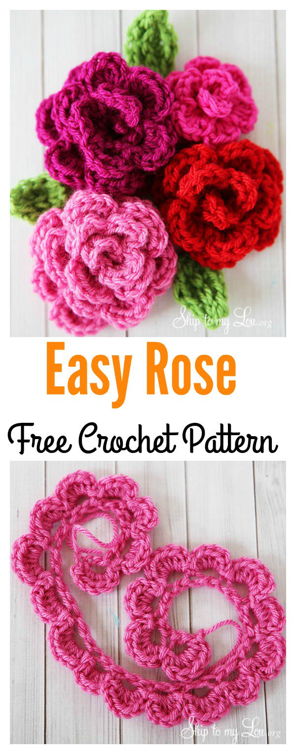 Free Crochet Rose Pattern Fresh Valentine S Day Crochet Flowers Free Patterns Of Attractive 49 Pics Free Crochet Rose Pattern