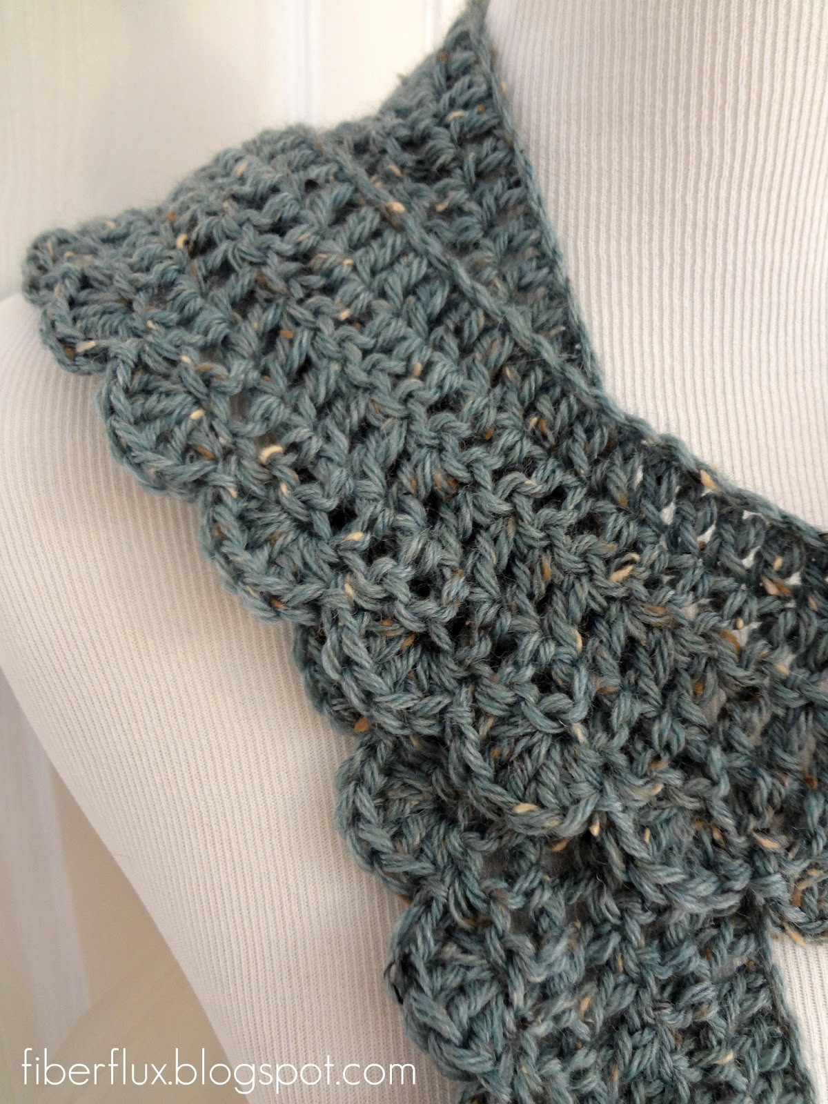 Free Crochet Scarf Patterns Awesome Fiber Flux Free Crochet Pattern Ocean Air Scarf Of Charming 48 Images Free Crochet Scarf Patterns