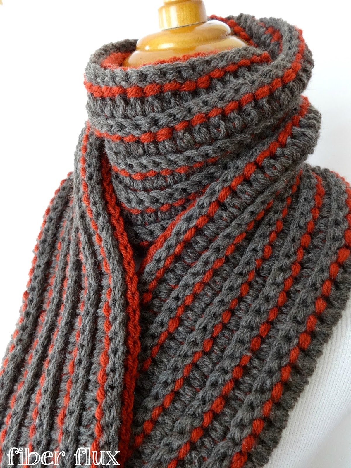 Free Crochet Scarf Patterns Awesome Fiber Flux Free Crochet Pattern the Every Man Scarf Of Charming 48 Images Free Crochet Scarf Patterns