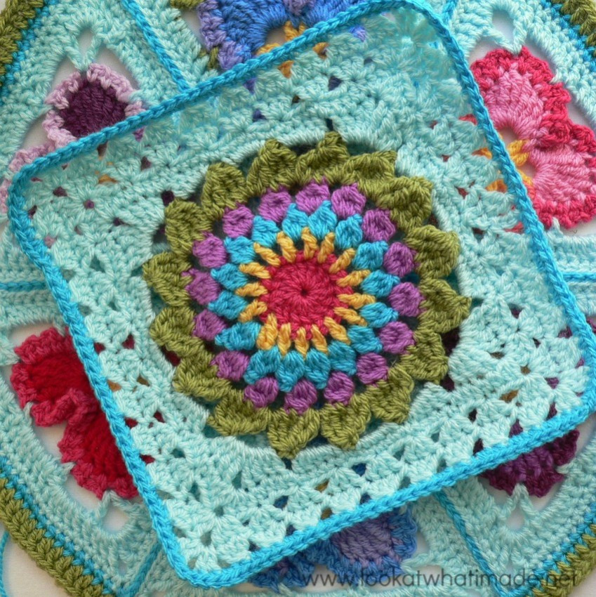 Free Crochet Square Patterns Awesome Block 18 Kata Tutorial ⋆ Look at What I Made Of Delightful 48 Models Free Crochet Square Patterns