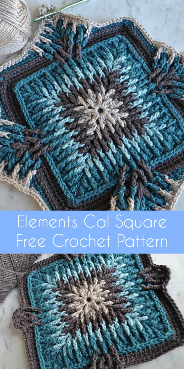 Free Crochet Square Patterns Awesome Elements Cal Square [free Crochet Pattern] Of Delightful 48 Models Free Crochet Square Patterns