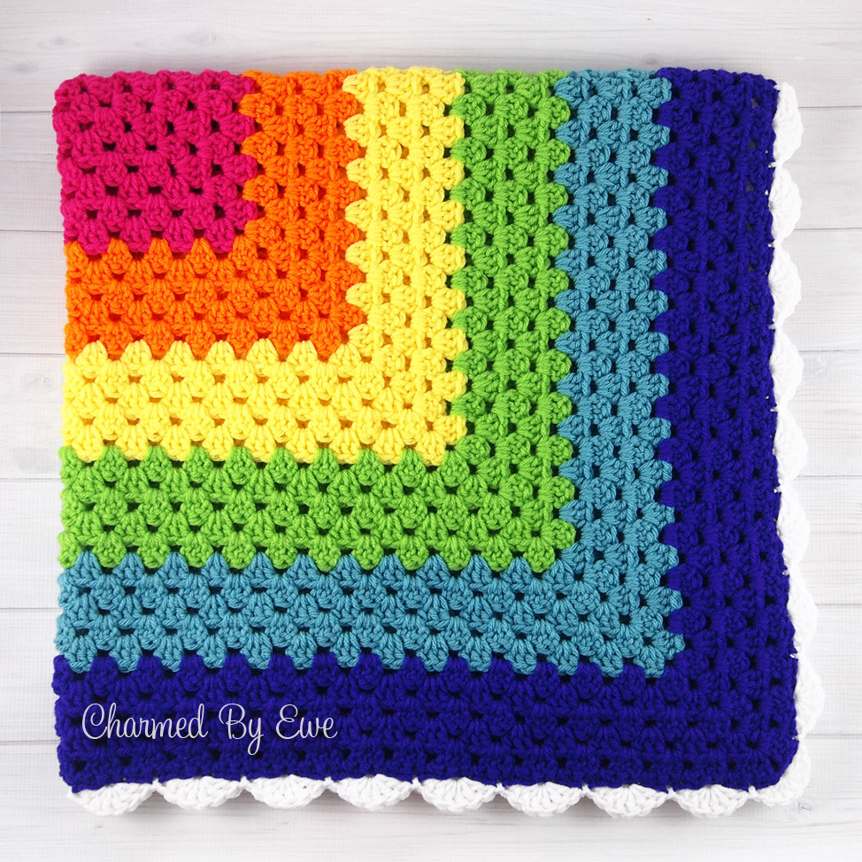 Free Crochet Square Patterns Unique Rainbow Granny Square Throw Of Delightful 48 Models Free Crochet Square Patterns