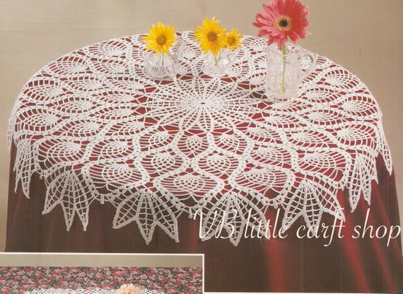 Free Crochet Table topper Patterns Inspirational Items Similar to Peacock Feather Doily Table topper Of Innovative 45 Ideas Free Crochet Table topper Patterns