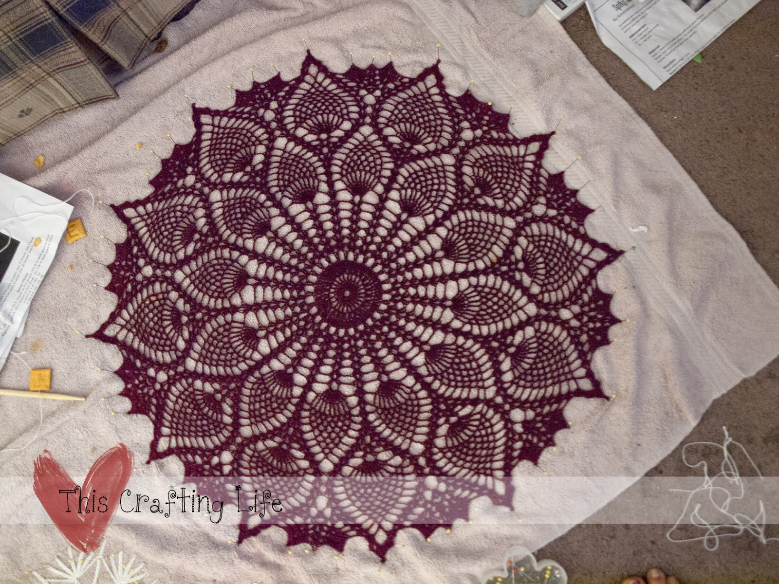 Free Crochet Table topper Patterns Lovely This Crafting Life Table topper Doily Crochet Pattern Of Innovative 45 Ideas Free Crochet Table topper Patterns