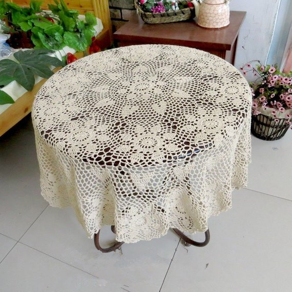 Free Crochet Table topper Patterns New Items Similar to Lovely Crochet Pattern Round Table topper Of Innovative 45 Ideas Free Crochet Table topper Patterns