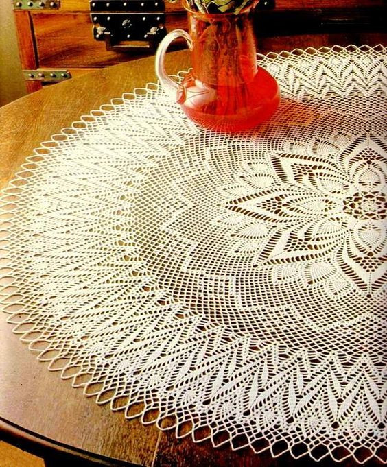 Free Crochet Tablecloth Patterns Awesome Crochet Art Tablecloths and Doilies On Pinterest Of Contemporary 40 Pics Free Crochet Tablecloth Patterns