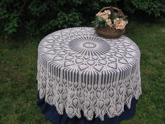 Free Crochet Tablecloth Patterns Luxury Tablecloths Crochet Lace and Patterns On Pinterest Of Contemporary 40 Pics Free Crochet Tablecloth Patterns