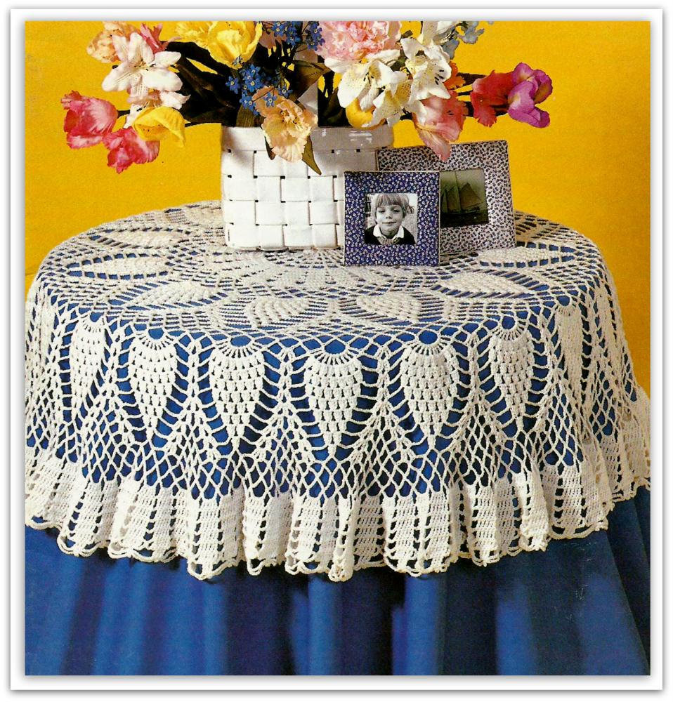 Free Crochet Tablecloth Patterns New Crochet Pineapple Tablecloth Pattern Pdf Of Contemporary 40 Pics Free Crochet Tablecloth Patterns