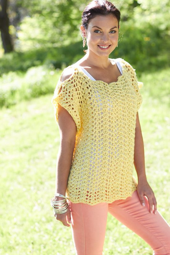 Free Crochet top Patterns Fresh Crochet Scalloped top Free Pattern by Lorna Miser From Of Amazing 46 Photos Free Crochet top Patterns