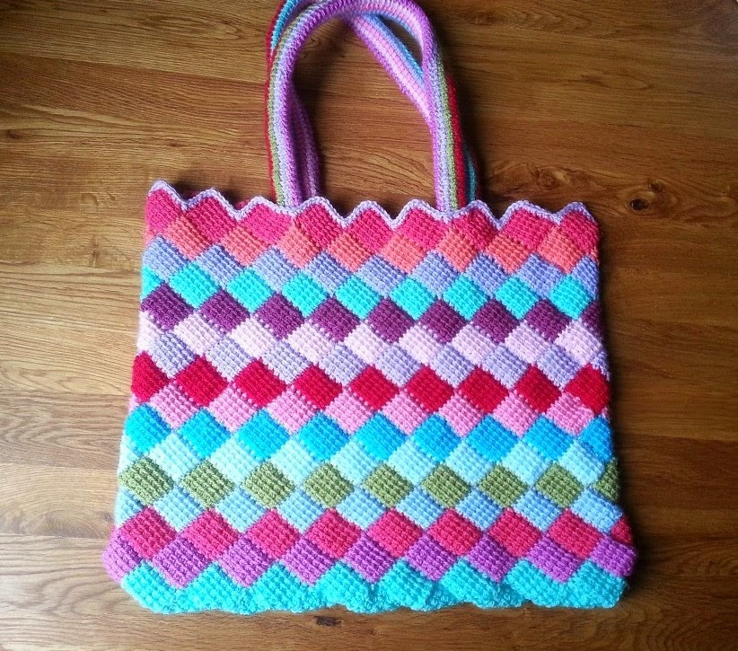 Free Crochet tote Bag Patterns Awesome Entrelac Crochet – Free Patterns – Grandmother S Pattern Book Of Awesome 44 Models Free Crochet tote Bag Patterns