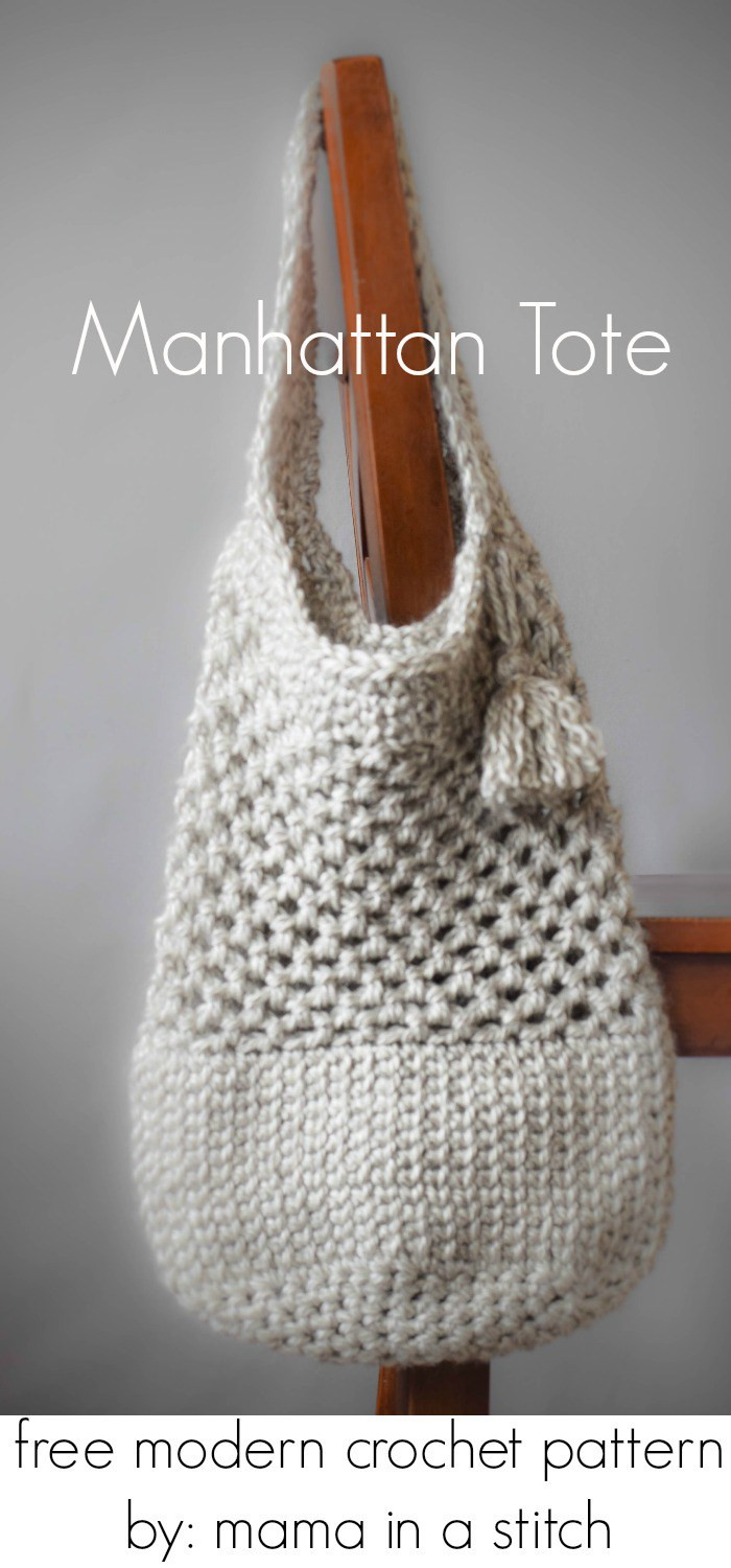 Free Crochet tote Bag Patterns Fresh Manhattan Market tote – Crochet Pattern Of Awesome 44 Models Free Crochet tote Bag Patterns