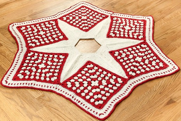 Free Crochet Tree Skirt Pattern Elegant Beautiful Granny Square Christmas Tree Skirt Free Of Marvelous 49 Models Free Crochet Tree Skirt Pattern
